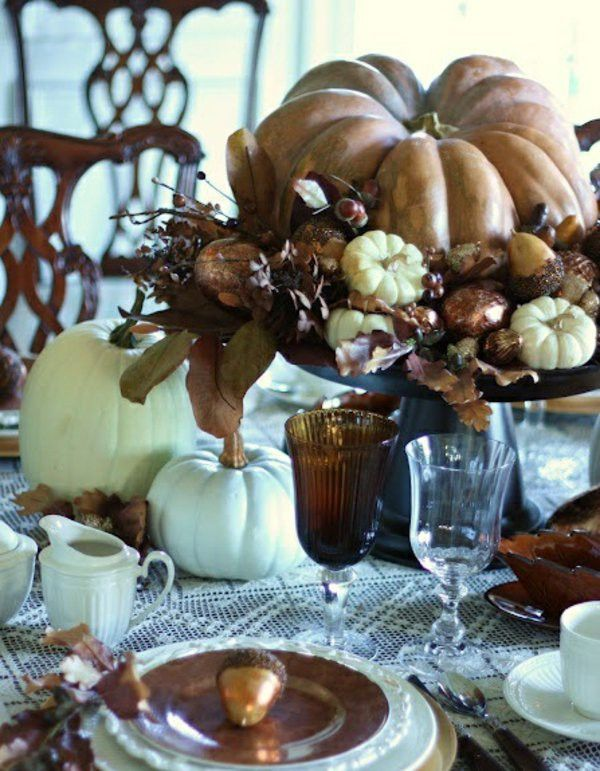 Golden Autumn table decoration