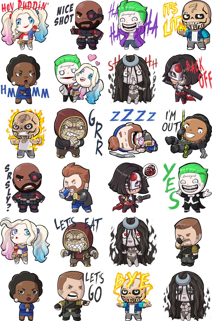 Suicide Squad Facebook Stickers