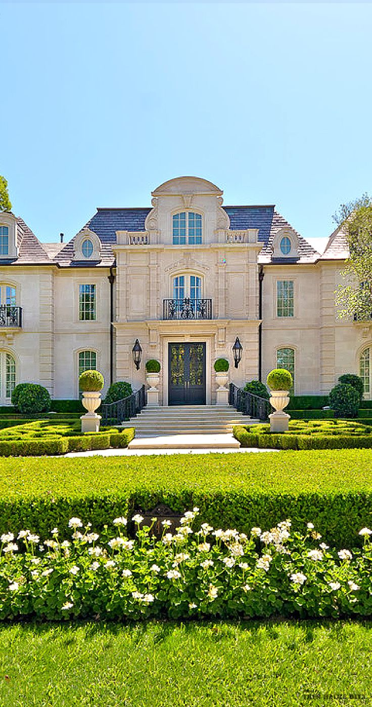 French chateau style residential estate and formal garden for Luxury house builders