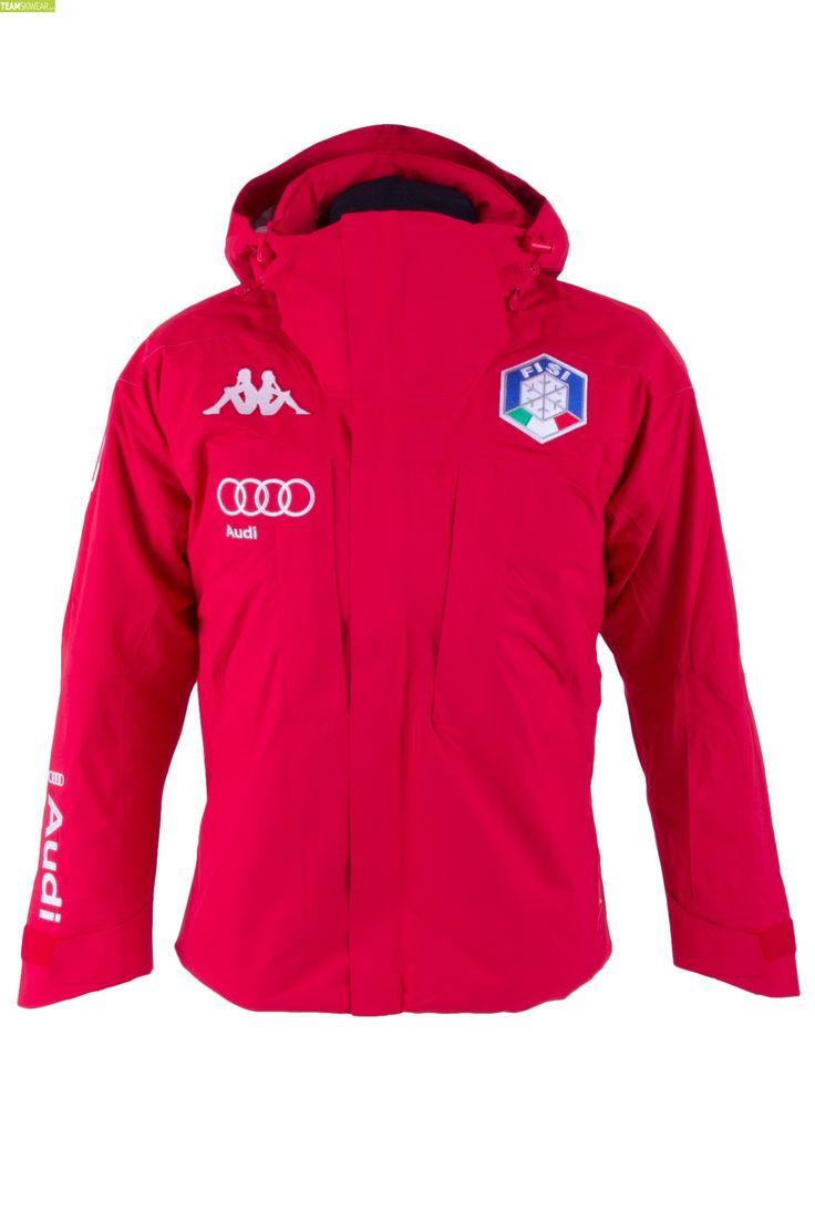 Kappa Men Italian Alpine Team FISI Jacket - Red Grey Silver