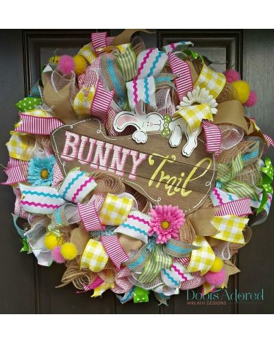 Bunny Trail Easter Wreath By Doors Adored | Photo Contest   CraftOutlet.com