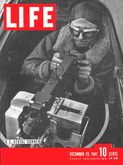 Life Magazine Cover Copyright 1941 US Aerial Gunner