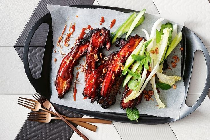 This no fuss, sticky pork dish served with an easy salad recipe will make the perfect mid-week dinner.