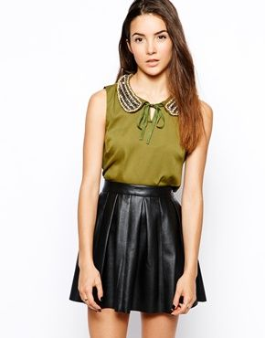 Glamorous Blouse with Peter Pan Collar