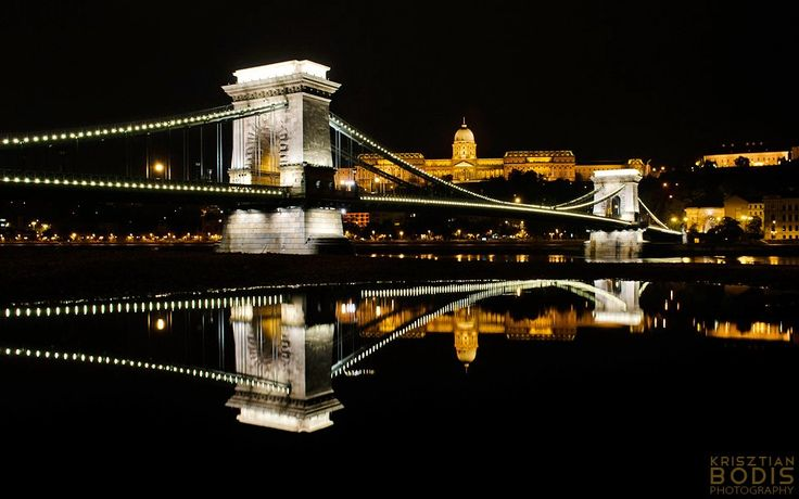 Budapest   Reflection - Széchenyi Chain Bridge & Buda Royal Castle. credit: Krisztian Bodis
