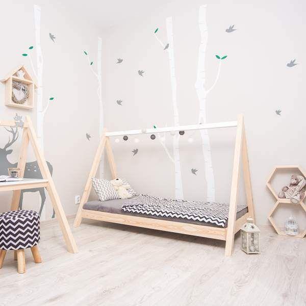 TIPI Bett Hausbett für Kinder MOON Natur Kleinkind