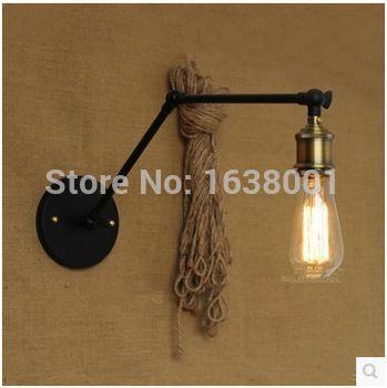 Antigo duplo braço Edison Industrial lâmpada de parede de cabeceira quarto minimalista café Bar arandela criativo personalizado