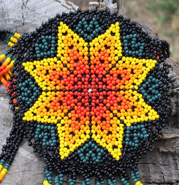 Handmade Star Pouch Peyote Stitched Necklace by MiCasitaDeChaquira