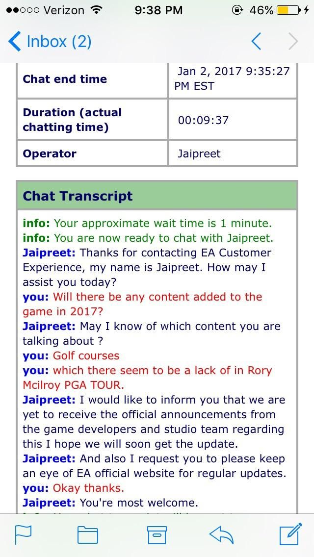 This is why yearly sports games exist EA. (Rory Mcilroy PGA TOUR)