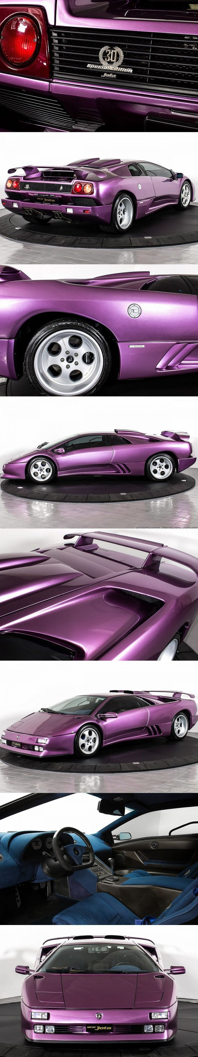 Awesome 1994 Lamborghini Diablo SE30 Jota / 15pcs / 595hp / Purple / Italy