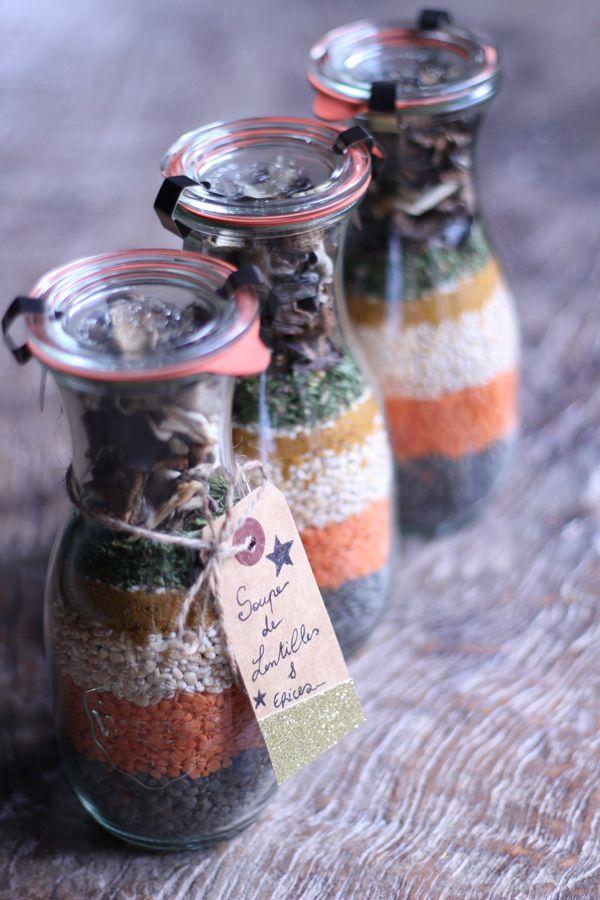 Soupe de lentilles aux épices . Idée cadeau