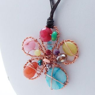 Floral Chic Cotton Rope Necklace (Thailand) -