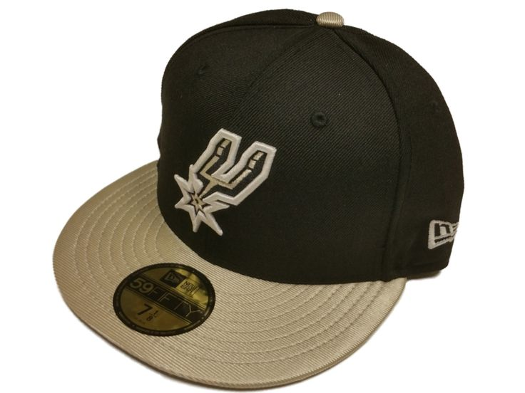 San Antonio Spurs New Era 59Fifty Black Silver Bill Fitted Hat Cap