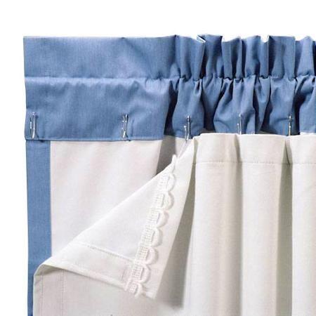Roc-Lon Blackout Energy Efficient Curtain Panel Liner, White