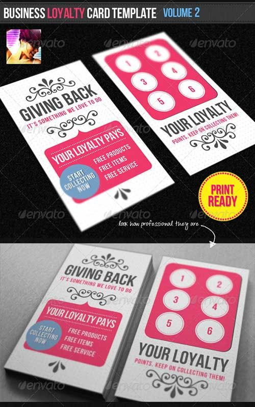 Business Loyalty Card Template