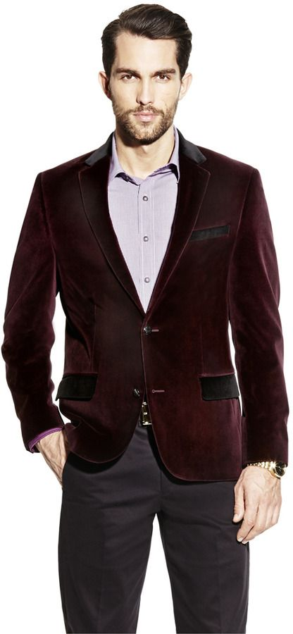 Burgundy Velvet Blazer by Vince Camuto. Buy for $295 from Vince Camuto