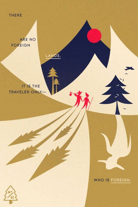 Great project from Wander to have designers/illustrators create hypothetical postcards.