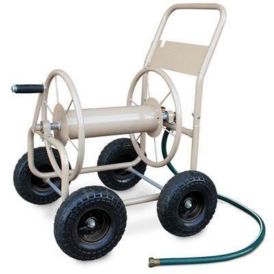 4 Wheel Indust Hose Cart Tan