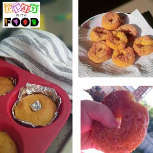 Baked donuts as a step to helping children food jagging on soft textures | Play with Food