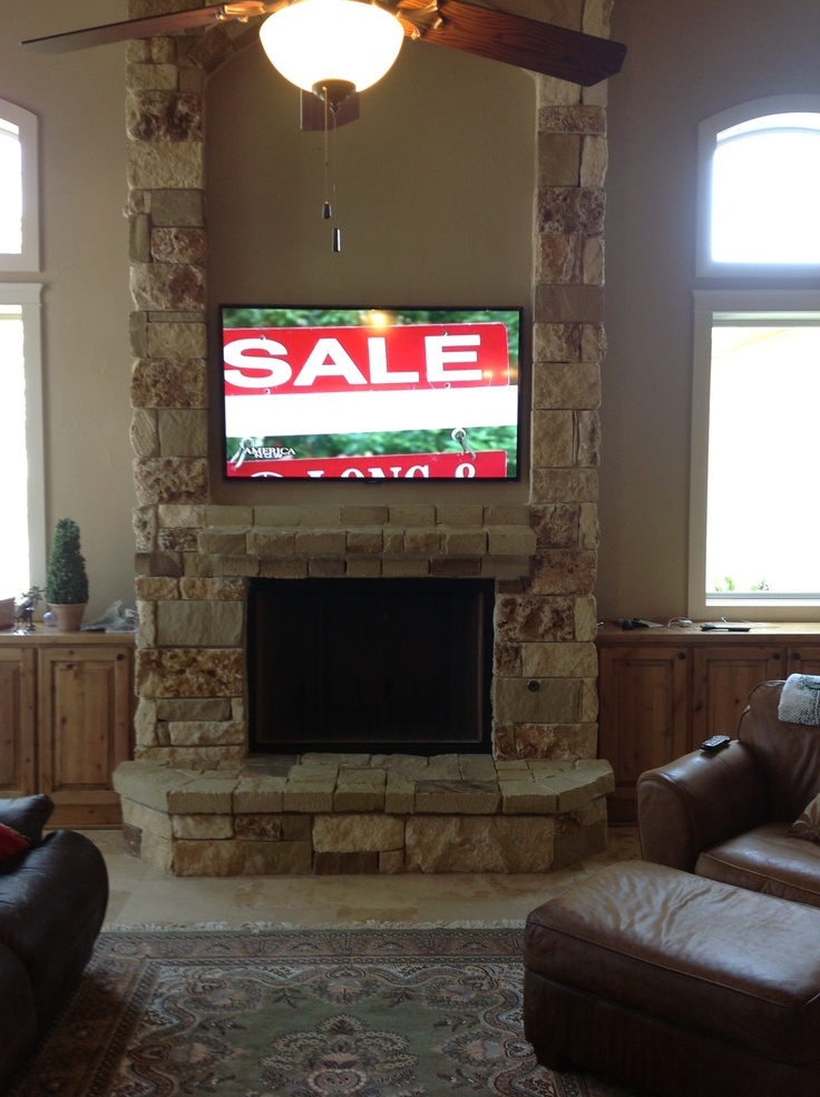 Tv Mounting Over A Fireplace With Wires Concealed In The Wall By Ernesto In Dallas Tx Ideas