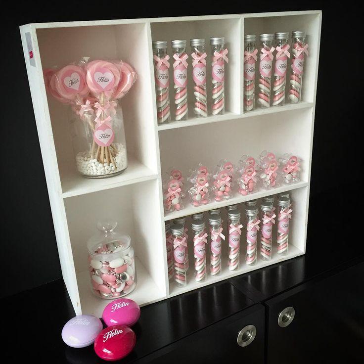 Welkom Helin! #doopsuiker #doopsuikers #doopsuikerblueandpink #suikerbonen #pastel #pastelpink #pink #babygirl #geboorte