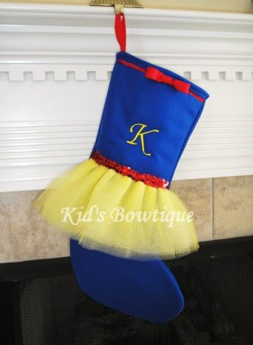Disney Snow White Inspired Monogrammed Tutu Christmas Stocking - Item Stock5