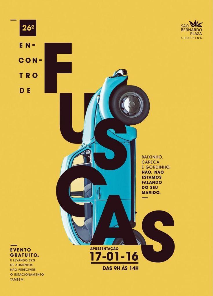 Sao Bernardo Plaza: Beetle yellow | Typography Poster | Amazing Layout