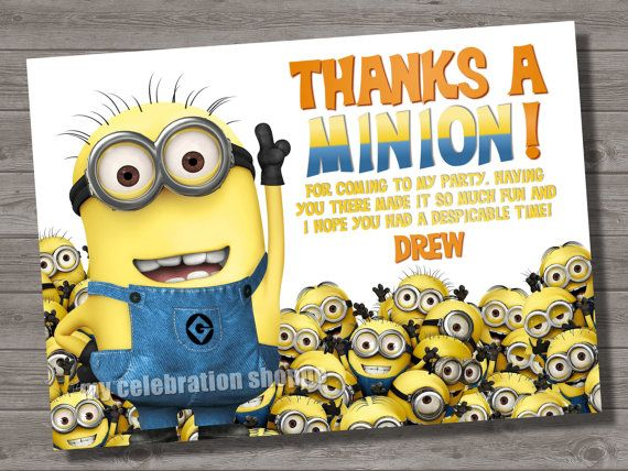 41 best Despicable Me birthday images – Despicable Me Birthday Card