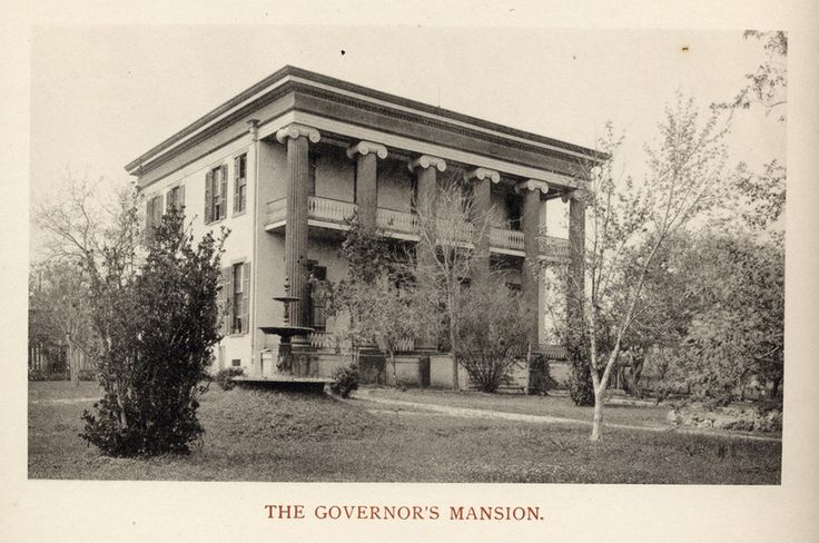 Texas Governor's Mansion: A Timeline   The Texas Tribune