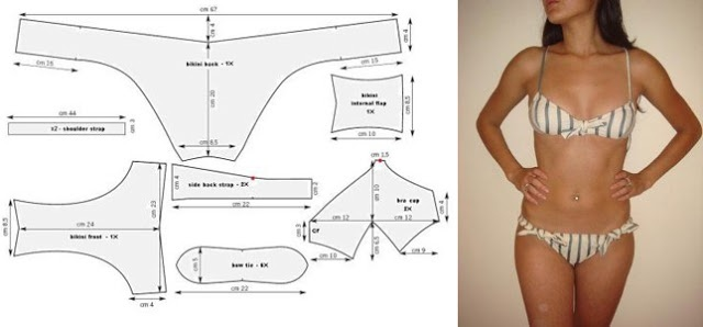 (Will use to sample undergarments) 14 Free Swimsuit Patterns