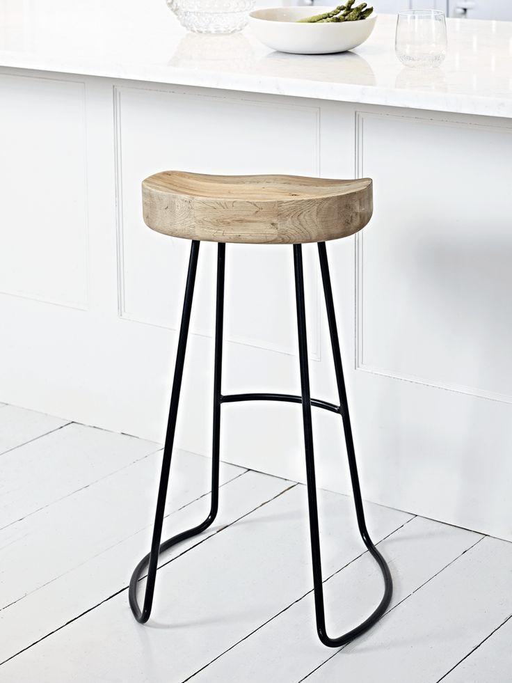 Elegant Twist Stool - Copper