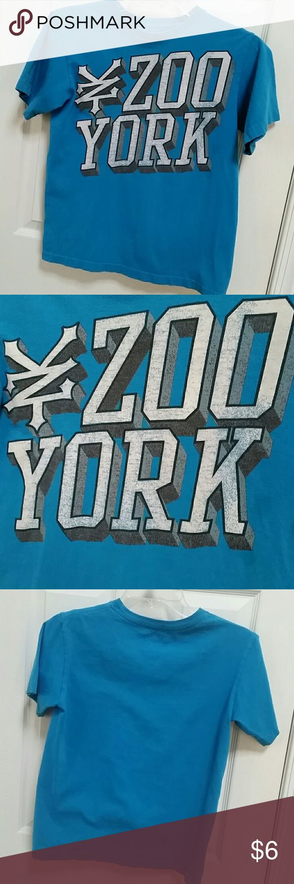 "Boy's Zoo York shirt Boys size 12/14 teal blue tee sheet with Zoo York logo. Good condition, but just a bit faded. Length 22.25"". Zoo York Shirts & Tops Tees - Short Sleeve"