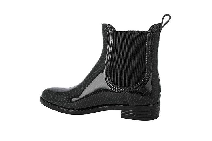 Holínky TOMMY HILFIGER - Odette 1R1 FW56821550 Black 990 - Kotníková obuv s elastickým prvkem - Kozačky a jiné - Dámské | www.eObuv.cz