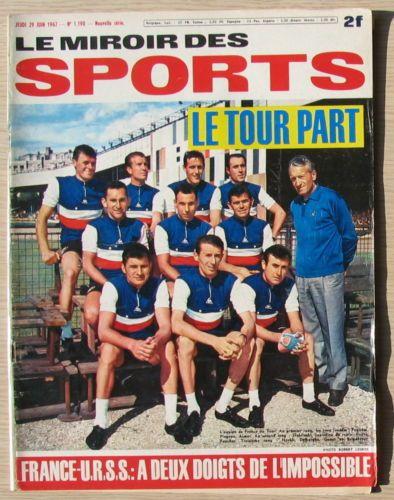 Le miroir des sports 1190 avant le tour de france 1967 for Le miroir des sports