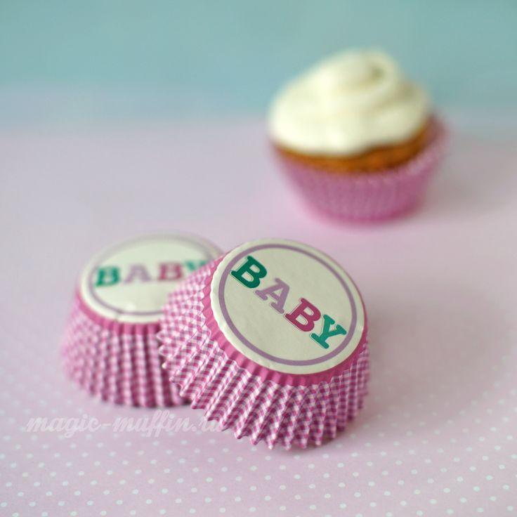 Формочки Baby Girl, 12 шт. капкейк маффин торт декор крем выпечка рецепт cupcake muffin cake cup baking frosting decor birthday