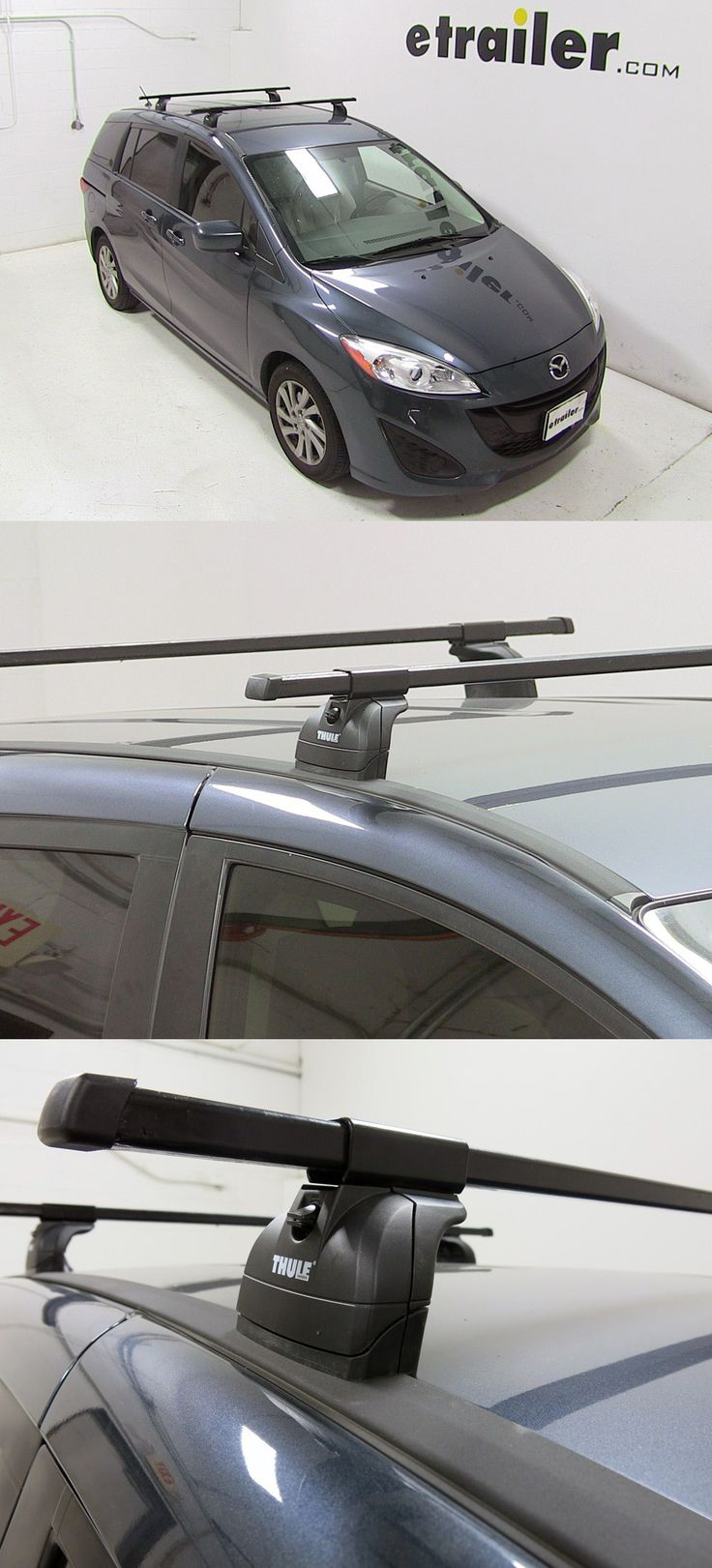 Thule Square Load Bars That Attach To The Thule Roof Rack To Create A Sturdy