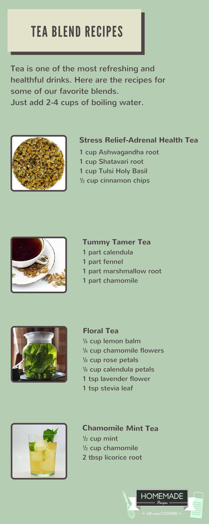 Blend gourmet herbal tea - Floral Tea Mint Tea Stress Relief Tea Blend Recipes By Homemade Recipes