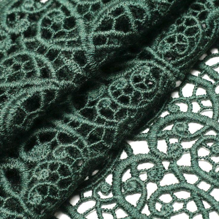 Кружево Франция код Р5865 Green lace of Italian