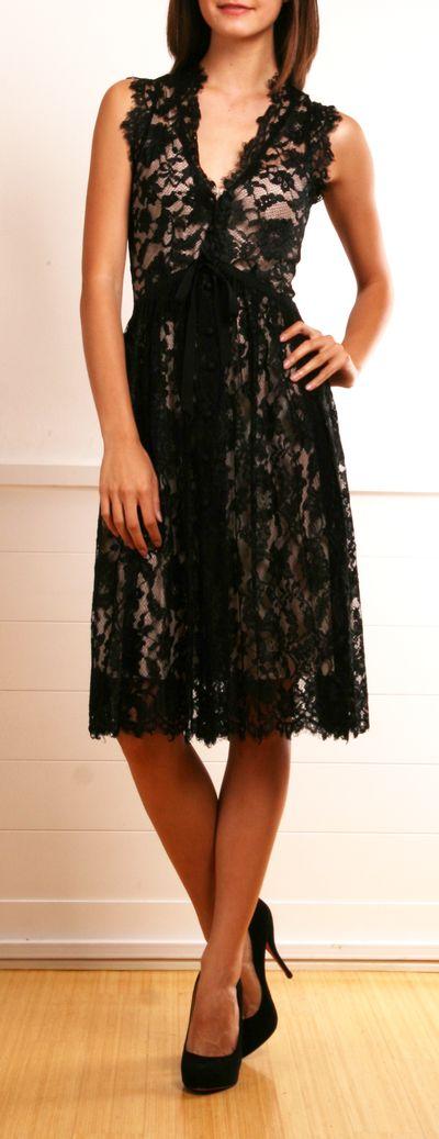 Robert Rodriguez Black Lace Dress