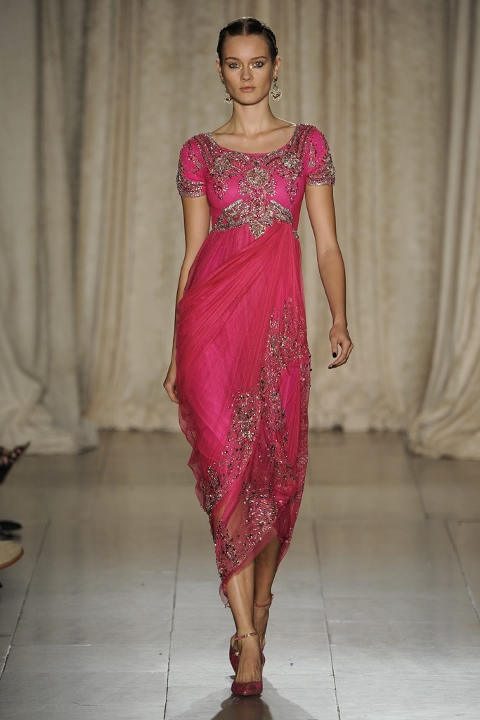 Marchesa RTW Spring 2013 - Pink Middle Eastern Inspired Gown, so beautiful.