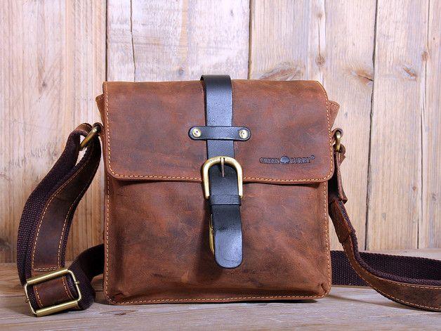 Vintage Schultertasche aus Leder / leather shouler bag for men made by Bag-in-Time via DaWanda.com