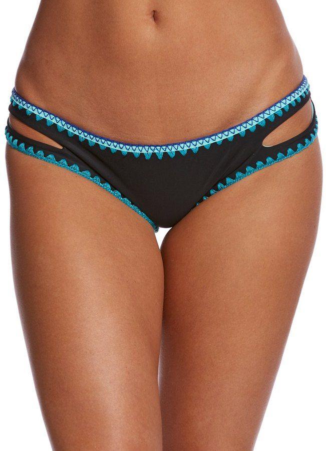 Jessica Simpson Swimwear Woodstock Reversible Split Side Hipster Bikini Bottom 8152652