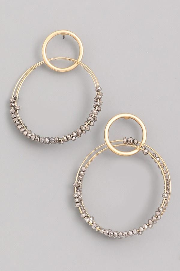 Perfect Ways Hoop Earrings Gunmetal