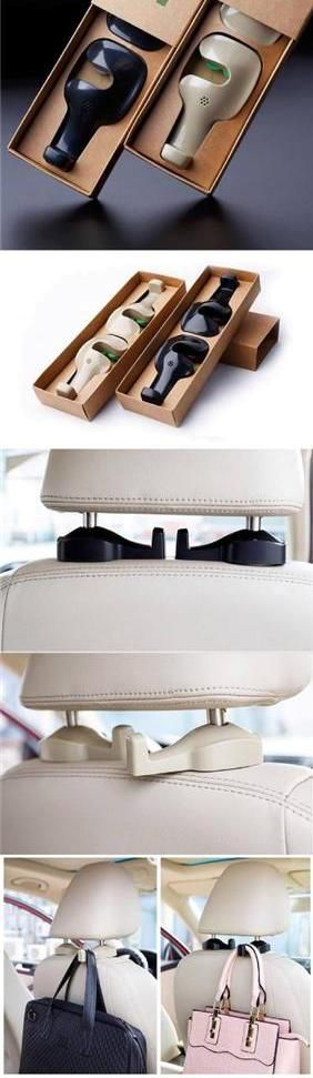 Stylish and functional, this universal car seat hanger has it all! No matter you have a compact car, truck or SUV, these unit can fit in. Versatile hanger can be used to hang coats, bags, purses, Suits, Grocery, you name it! Nicely packaged, great gift idea!