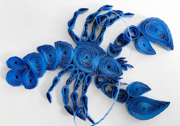 Quilled Blue Lobster  #quilling #lobster #blue #vacationland