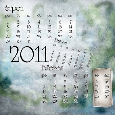 Sita digiscrapbook freebies: číselník klasický na 2011
