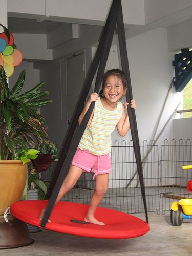 Ikea svava swing playroom ideas pinterest indoor for Diy kids swing