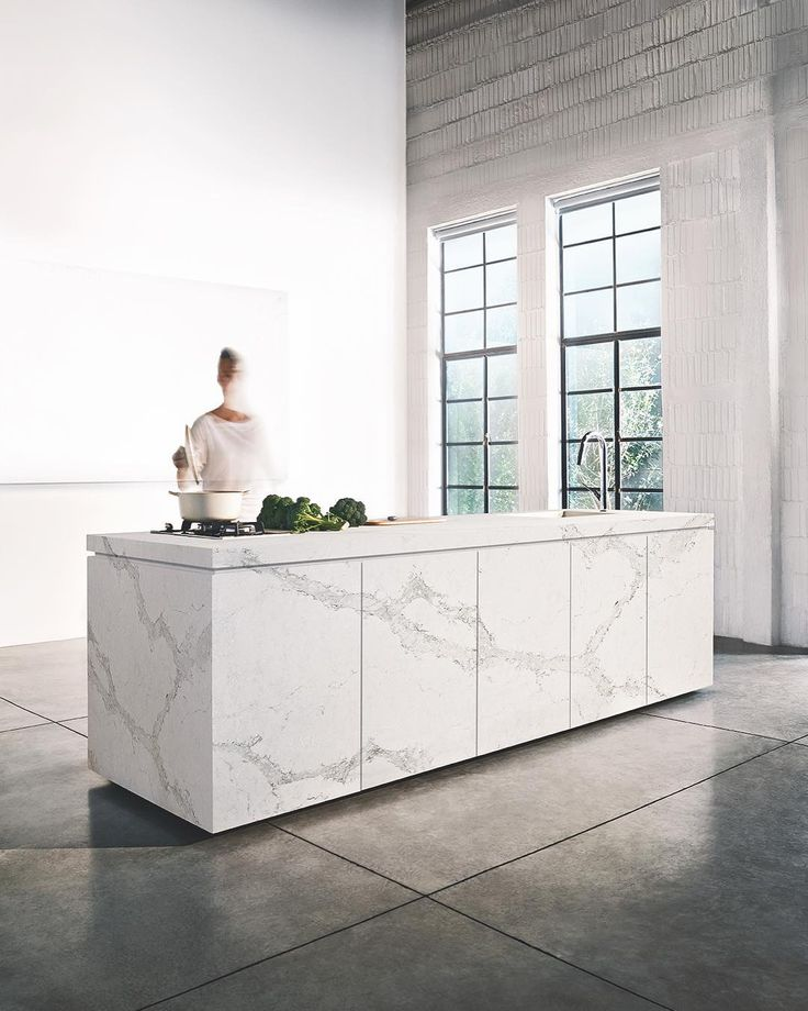Let your surface stand-out  Calacatta Nuvo amongst a minimal setting  #yesplease #caesarstone #caesarstoneau #calacattanuvo
