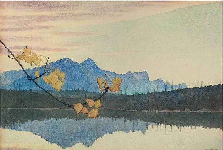 Leaf of Gold, 1941, Walter Joseph ( W.J ) Phillips. (1884 - 1963) - Watercolor on Paper -