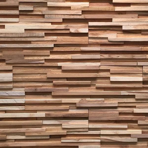 Plaquette de parement bois recyclé UltraWood Teak Toscani